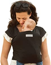 Amawrap Baby Sling Wrap | UK Made, Natural Cotton Carrier | 9 Colours (Black)