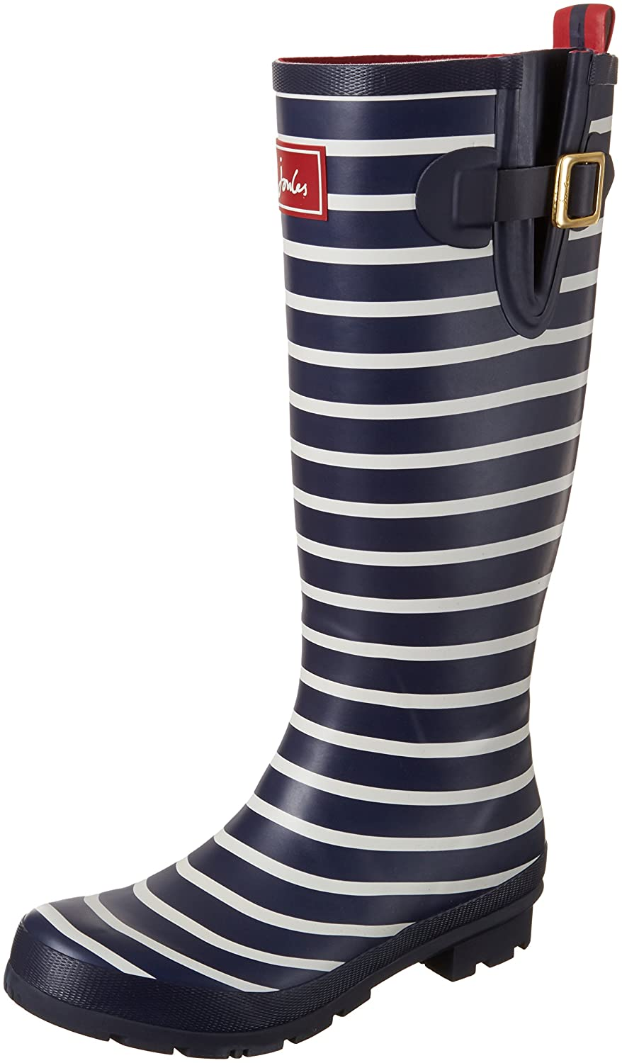 Joules Women's Welly Print Rain Boot B0722NN94R Women's 6|French Navy Stripe