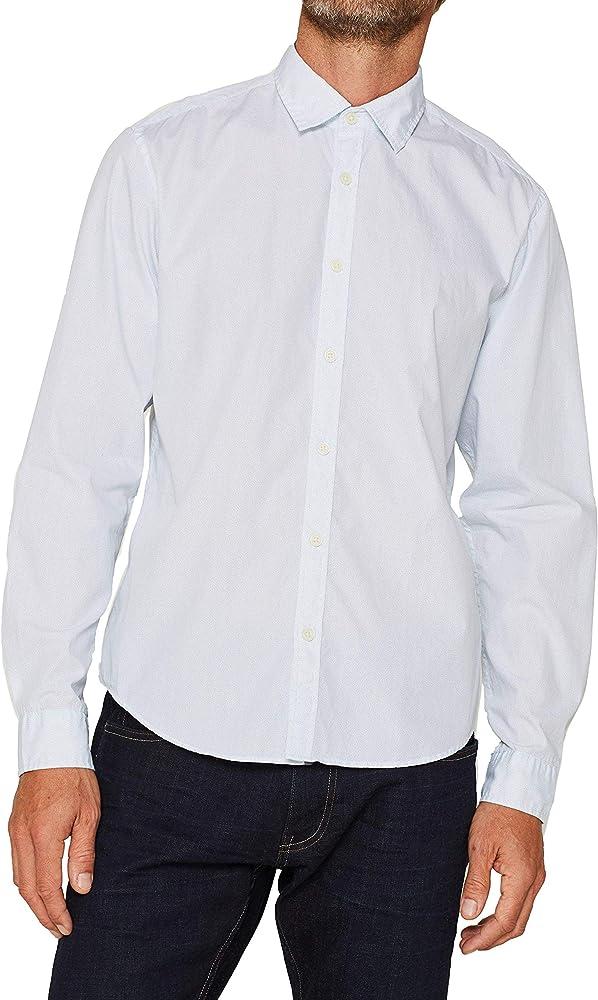 Esprit 109ee2f003 Camisa, Blanco (White 100), X-Small para Hombre: Amazon.es: Ropa y accesorios
