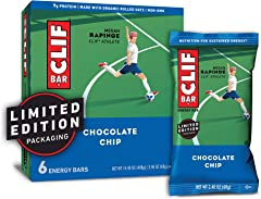 CLIF BAR - Energy Bars - Chocolate Chip - (2.4 Ounce Protein Bars, 6 Count) (Packaging May Vary)