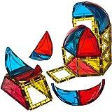Coffret Dôme Playmags28 pièces:  Solide et ultra résistant avec des tuiles de couleurs claires et vives