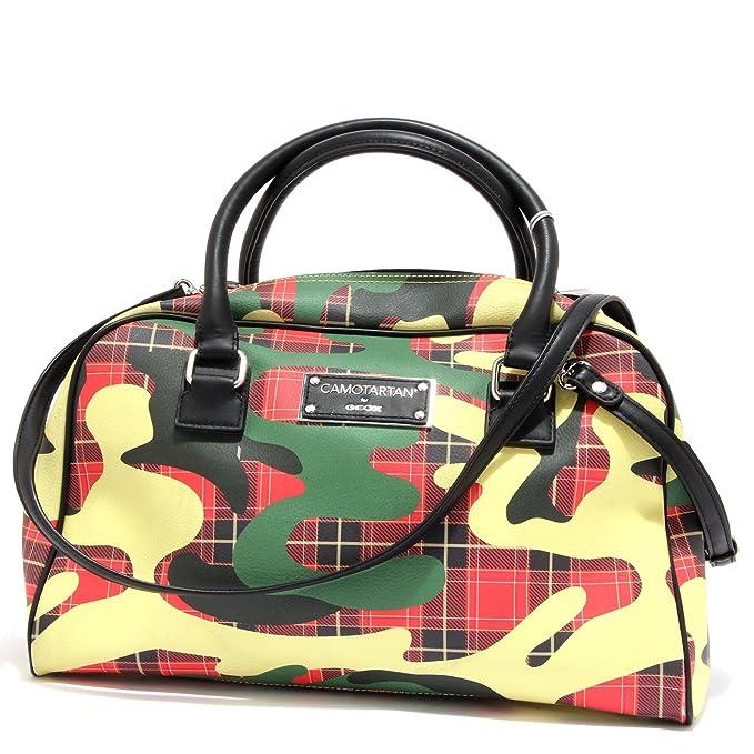For Borsa Camotartan Ecopelle Tracolla 6160u Donna Geox Handbag SpUMVqGz