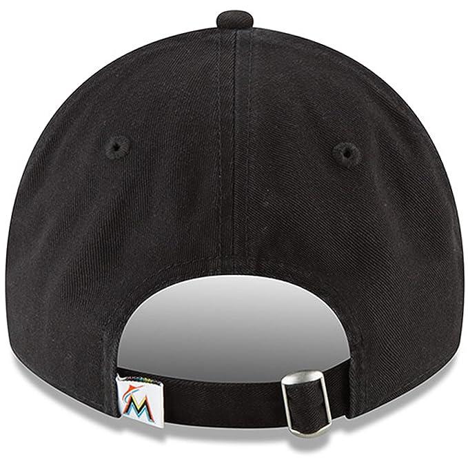 the best attitude 671e0 7b54c Amazon.com   Miami Marlins New Era Home Replica Core Classic 9TWENTY  Adjustable Hat Black   Sports   Outdoors