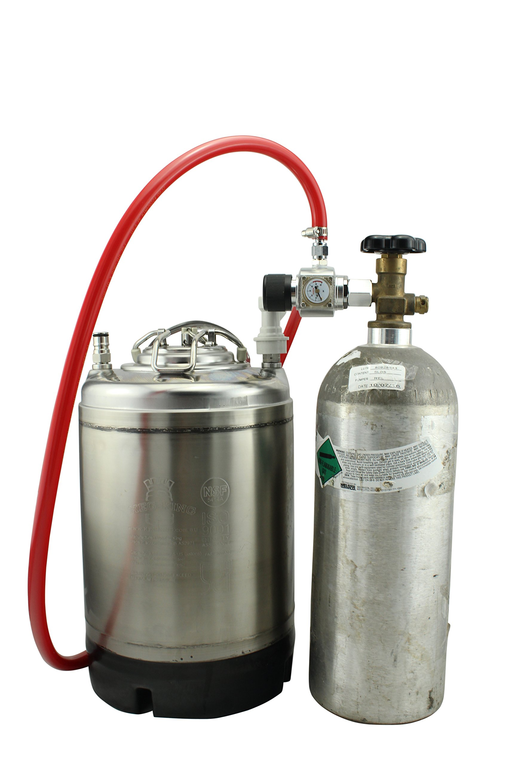 CO2 Injection System for Standard Homebrew Tanks CGA320 by The Weekend Brewer