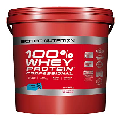 Scitec Nutrition Whey Protein Professional Proteína Vainilla - 5000 g