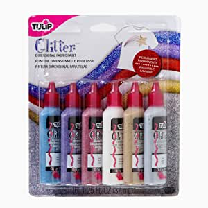 Tulip Dimensional Glitter Fabric Paint, 6-Pack