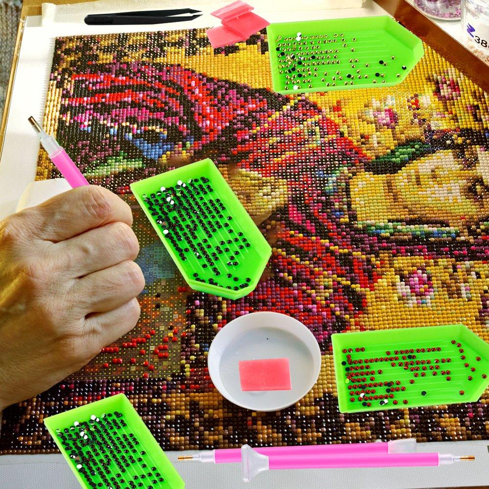 Pllieay 24 Stücke DIY Diamant Malerei Werkzeuge Einschließlich ...
