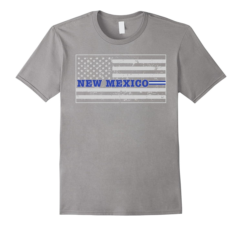 New Mexico Paramedic EMT Thin White Line Flag Shirt-TD