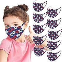 1/3/5/8/10 Piezas Bufanda para niños, Corona Infantil impresión Bufanda Encantadora para Actividades al Aire Libre…