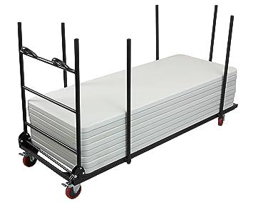 adiroffice – Mesa plegable para mesa de apilamiento | camión | cuerpo de acero Carrier con