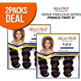 2-PACK DEALS ! MilkyWay Human Hair Weave Fabulous Series French Twist 8""