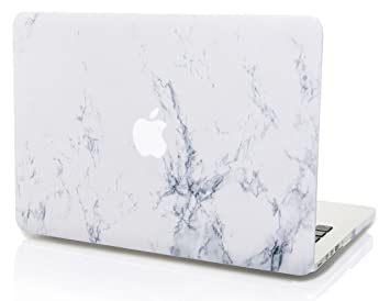 StarStruck Funda Dura MacBook Pro 13 Pulgadas Retina A1425 / A1502 Antiguos Ultra Delgado Plástico (Mármol Blanco)