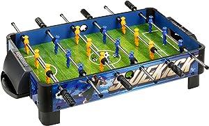 "Hathaway BG1028T Sidekick Portable Foosball Table for Tabletops, 38"", Blue/Green//Yellow"