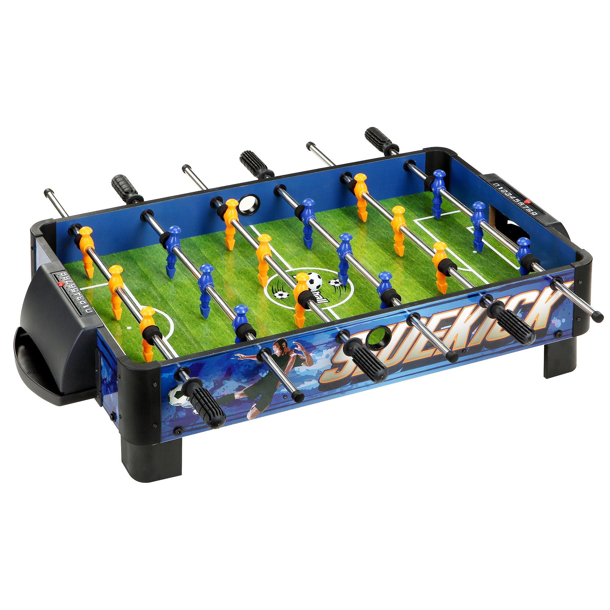 Hathaway BG1028T Sidekick Portable Foosball Table for Tabletops, 38'', Blue/Green//Yellow by Hathaway