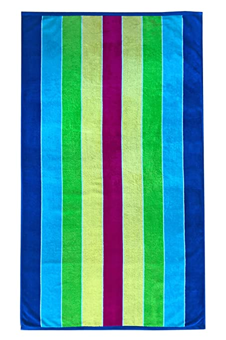 Amazon Com Espalma Mardi Gras Stripe Oversized Beach Towel