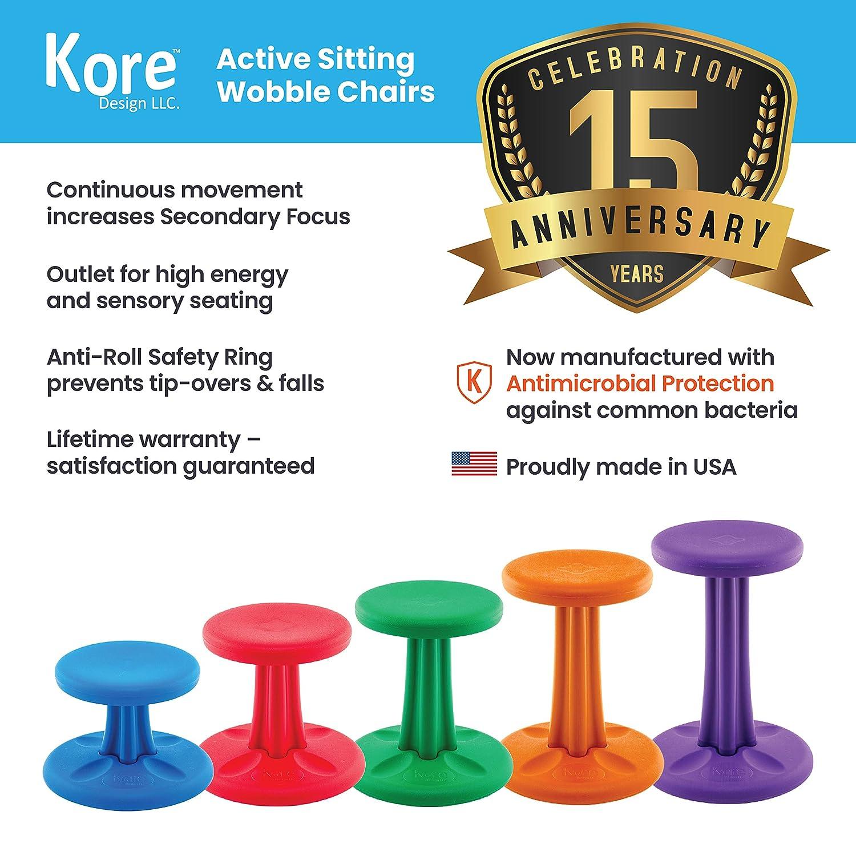 Kore Teen Schwarz Active Wobble Stuhl – Schwarz Teen – Teen (51 cm) 49c51f