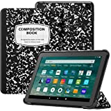 Ayotu Case for All-New Kindle Fire HD 8 Tablet and Fire HD 8 Plus Tablet (10th Gen, 2020 Release), Trifold Stand Cover with A
