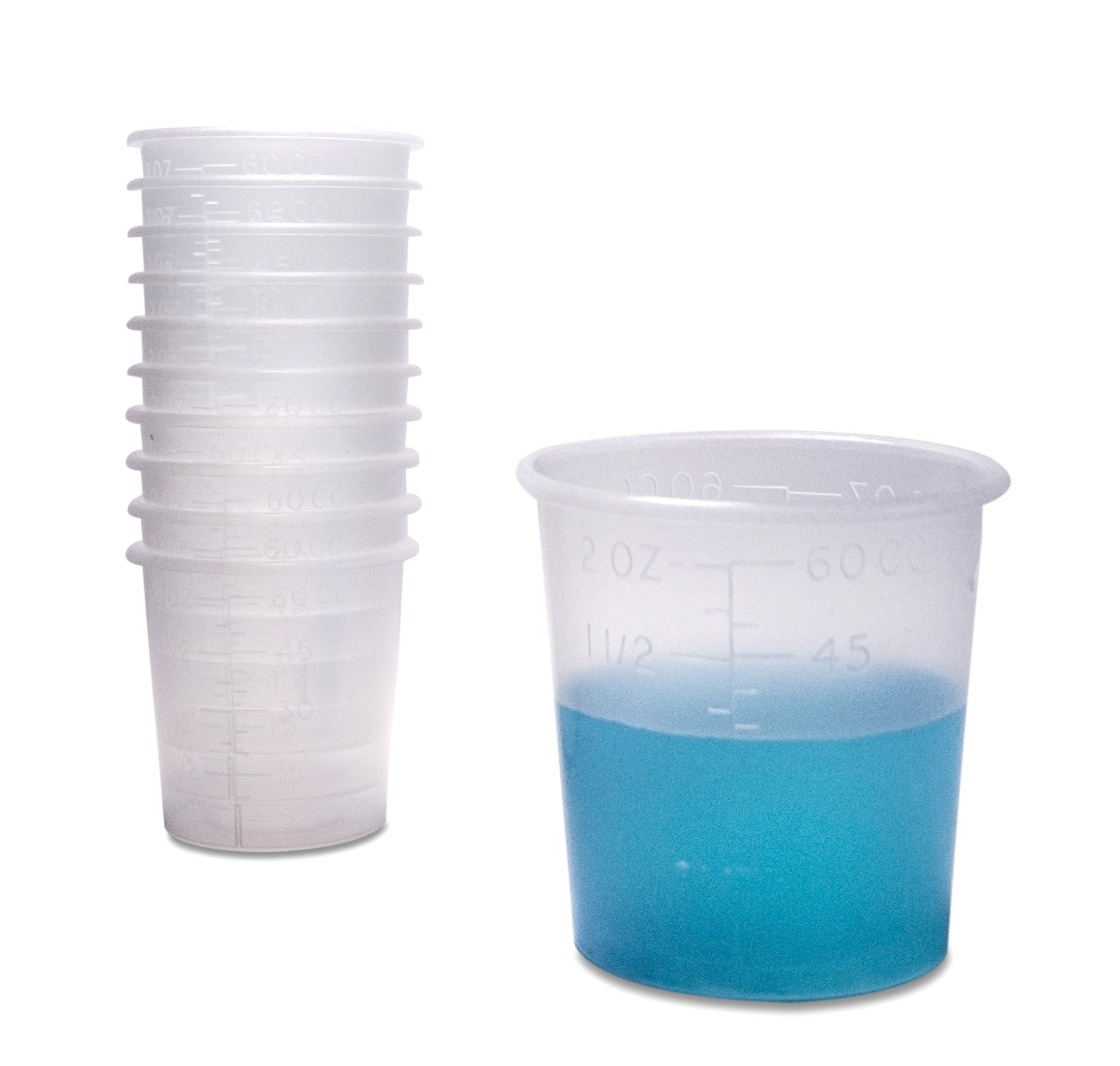 250 Thick Quality Two Ounce Measuring Cups with Rounded Brims for Medicine Dispensing or Mixing or Portioning