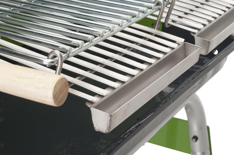 Landmann Holzkohlegrill Rundgrill Corso Schwarz : Bbq und grill u grill mit rädern tondo schwarz amazon küche