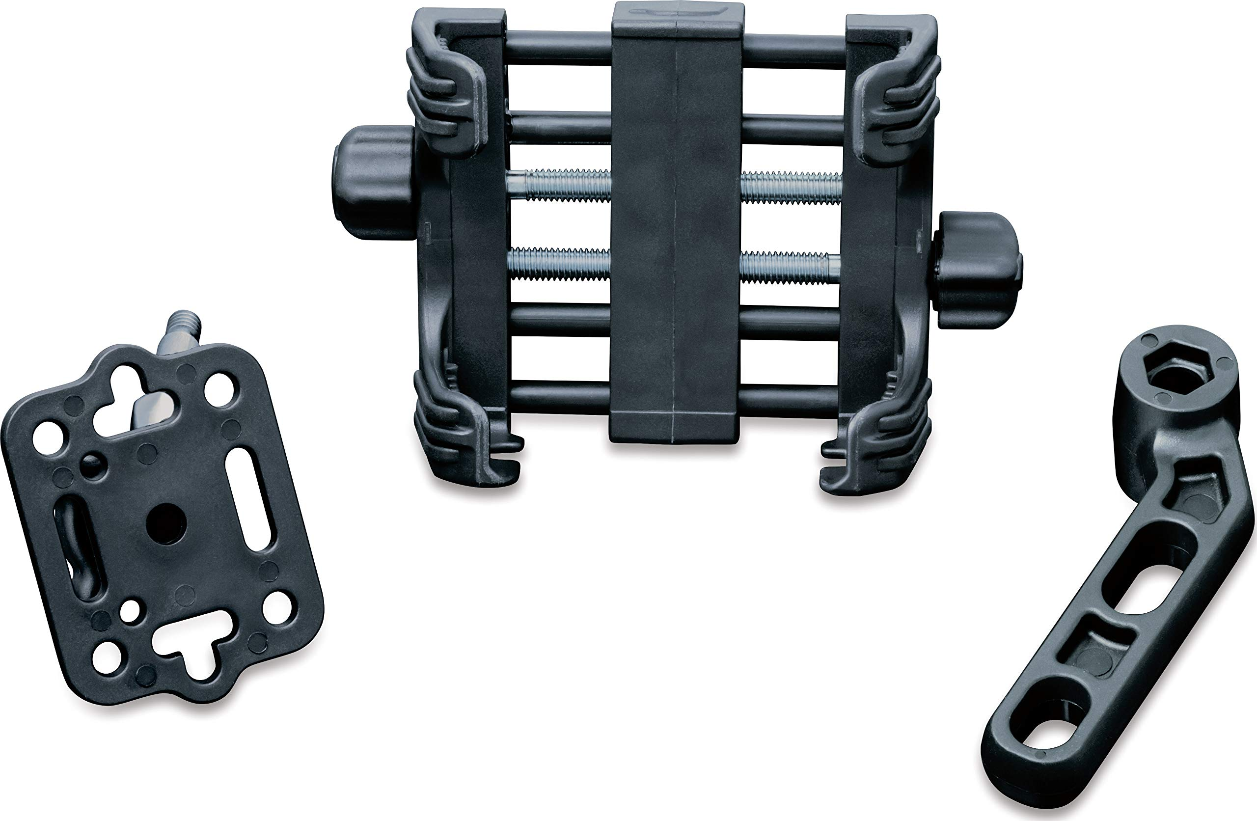 Kuryakyn 1676 Motorcycle Accessory: Clutch/Brake Perch Mount Tech-Connect Cradle GPS Device/Phone Holder Mounting Kit, Large, Black