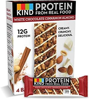 product image for KIND Protein Bars, White Chocolate Cinnamon Almond, Gluten Free, 12g Protein,1.76oz, 24 count