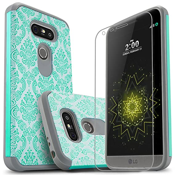 f5b8f8bcf0c600 LG G5 Case, Starshop [Shock Absorption] Dual Layers Impact Advanced  Protective Phone Cover