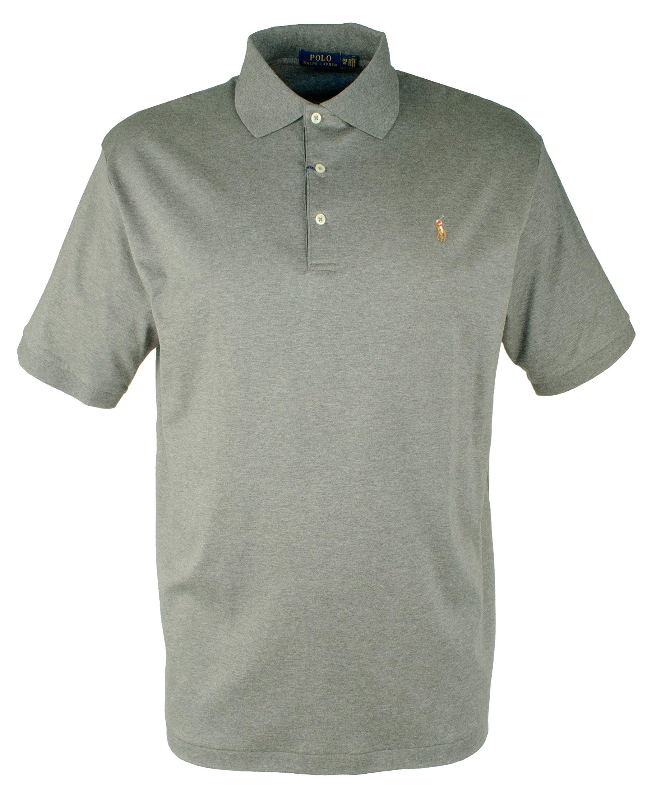 Polo Ralph Lauren Men's Big & Tall Heather Pima Knit Polo Shirt-FG-4XB