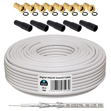 HB-DIGITAL Cable Coaxial de HB Digital Set SAT de cable con ...