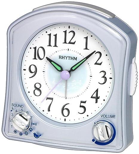 Amazon.com: Rhythm EE. UU. Plata Robin Reloj despertador ...