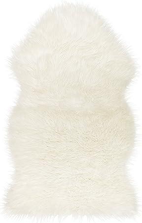 IKEA TEJN Alfombra Piel Sintética Pelo Blanco: Amazon.es: Hogar