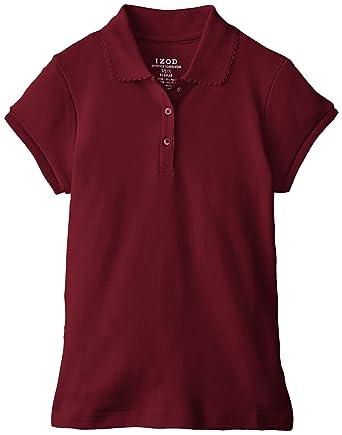 63c52559f6bf8 Amazon.com  Izod Girls  Short Sleeve Uniform Polo  Clothing