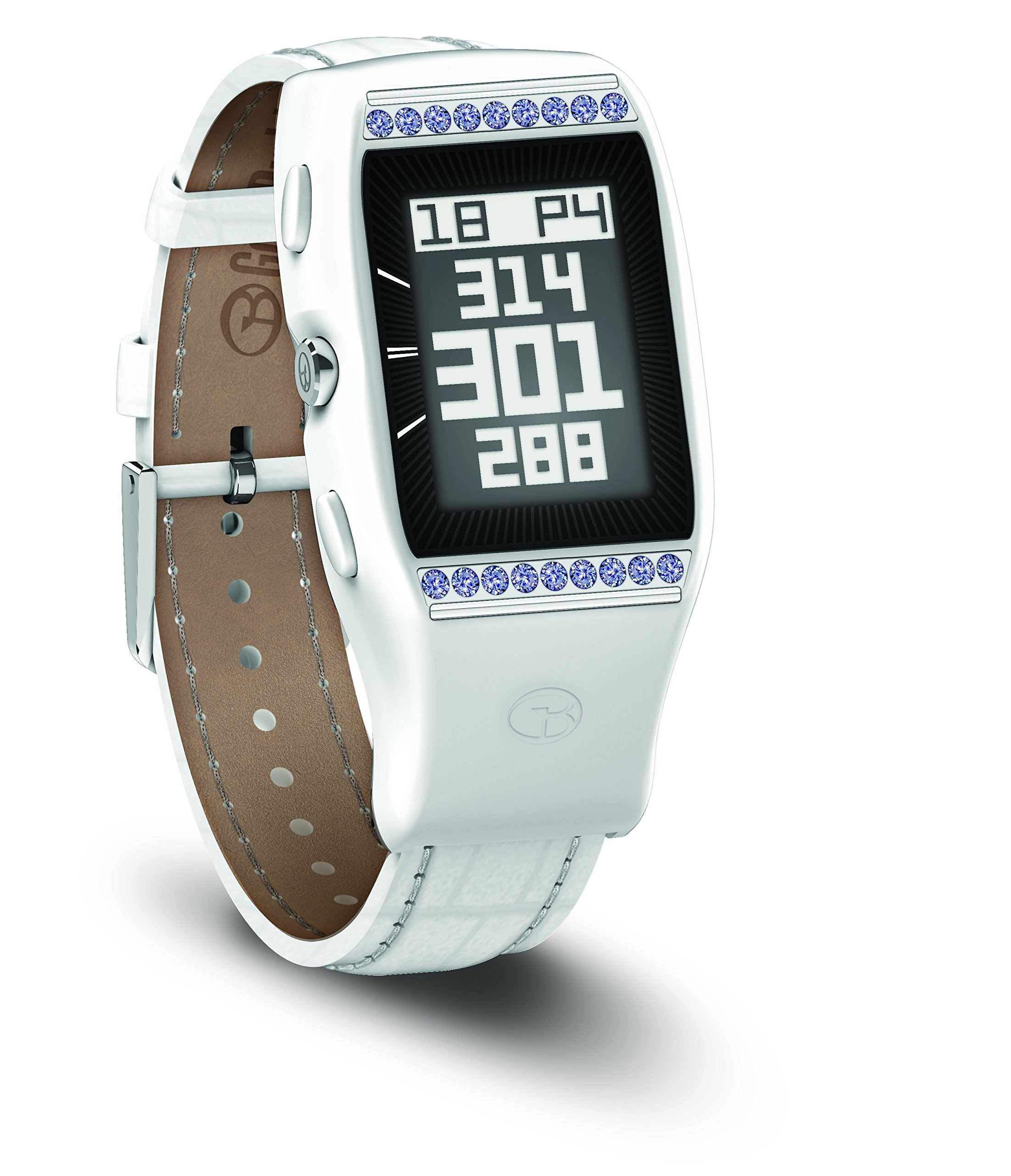 GolfBuddy Women's LD2 Golf GPS Watch with Swarovski Crystals, Small, White by GolfBuddy