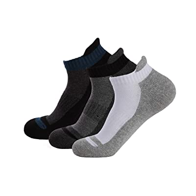 6 Pairs Mens Low-Cut Performance Running Socks, Ankle Non-Slid Socks, Cotton Athlete Sport Socks, Breathable and Sweat-wicking at Amazon Men's Clothing store