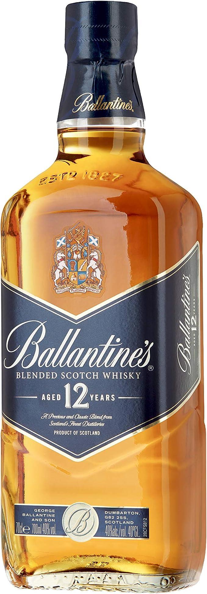 Ballantines Blue 12 años Whisky Escocés de Mezcla - 700 ml