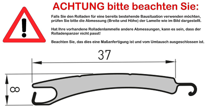 Smarotech® Rolladenbehang Höhe 140cm, Breite 70-119cm aus 8x37mm Alu-Lamelle Alu-Lamelle Alu-Lamelle (100cm Breite x 140cm Höhe, weiß) B07DYMYV7Q Fensterlden 6f1db9