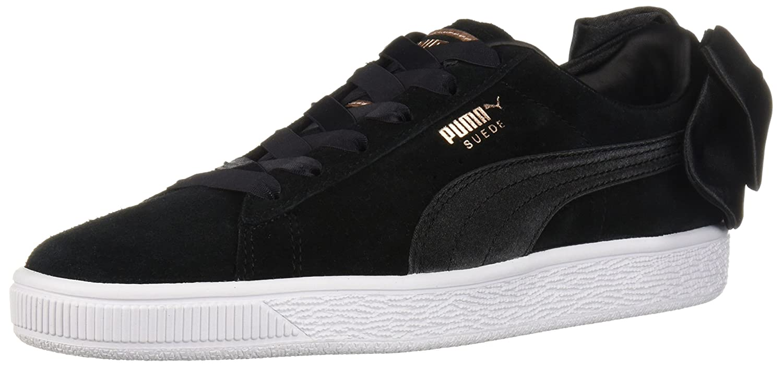 PUMA Women's Suede Bow Wn Sneaker B0753YVCZ2 10.5 B(M) US|Puma Black-puma Black