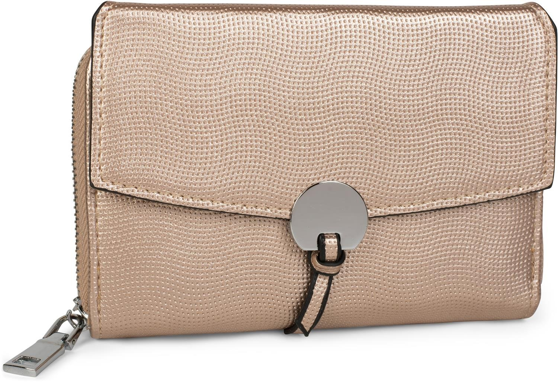 styleBREAKER suave monedero con estructura perforada, cierre de botón a presión y cremallera separada, cartera, señora 02040099, Color Dorado: Amazon.es: ...