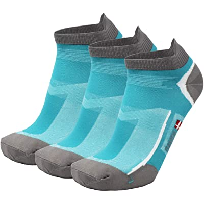 DANISH ENDURANCE Low Cut Calcetines de Deporte, 1, 3 o 5 Pares, Hombres & Mujer, Ligero, Corto Calcetines Running Calcetines Antiblasen, Transpirables, Antisudor para Deportes Fitness
