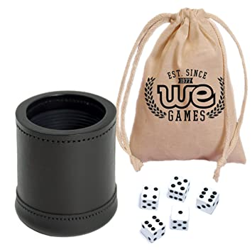 Amazoncom WE Games Mahogany Leather Professional Dice Cup With - Vinyl dice cup