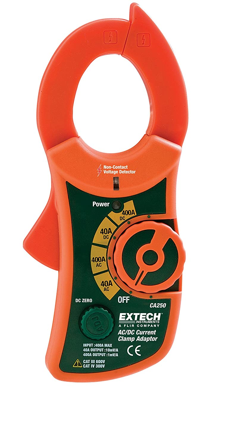 Extech Ca250 Clamp On Adaptor 400a Ac Dc And Ncv Home Instruments Corp Circuit Load Tester Improvement
