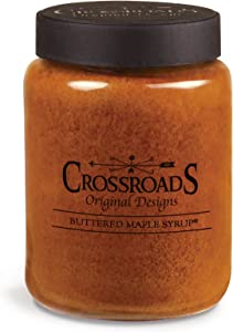 Crossroads Buttered Maple Syrup Scented 2-Wick Candle, 26 Ounce