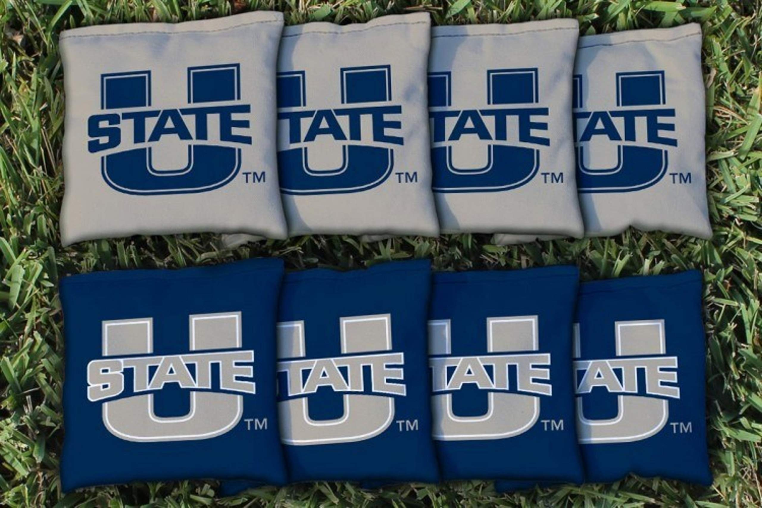 Victory Tailgate NCAA Collegiate Regulation Cornhole Game Bag Set (8 Bags Included, Corn-Filled) - Utah State Aggies by Victory Tailgate