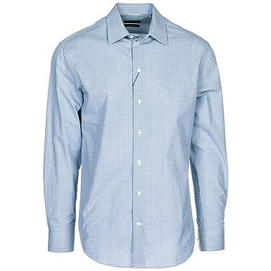 9e44efa1f23b Emporio Armani Chemise Homme Azzurro 40 cm  Amazon.fr  Vêtements et  accessoires