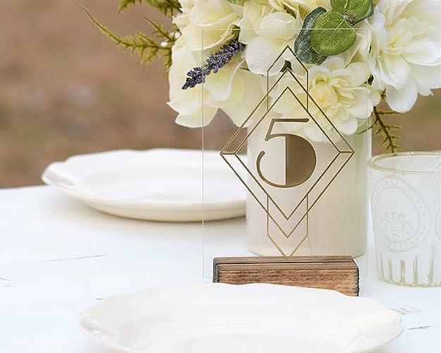 Miraculous Amazon Com Art Deco Acrylic Table Numbers Gold Wedding Download Free Architecture Designs Pendunizatbritishbridgeorg