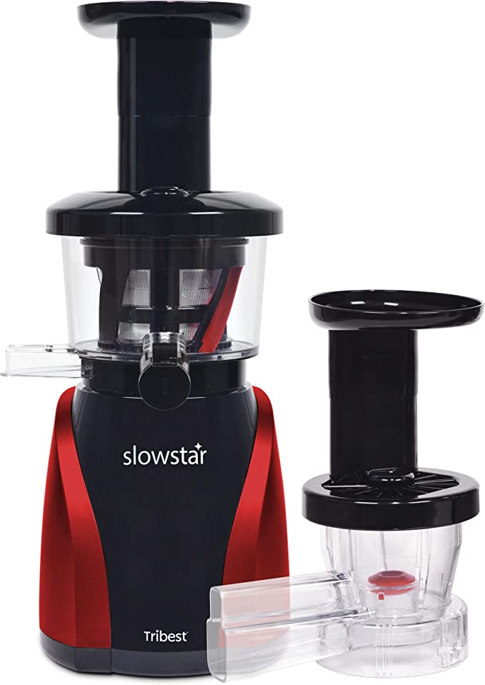 Amazon.com: Tribest SW-2000 Slowstar, Vertical Slow Juicer and Mincer, Cold Press Masticating Juice Extractor: Electric Single Auger Masticating Juicers: Kitchen & Dining