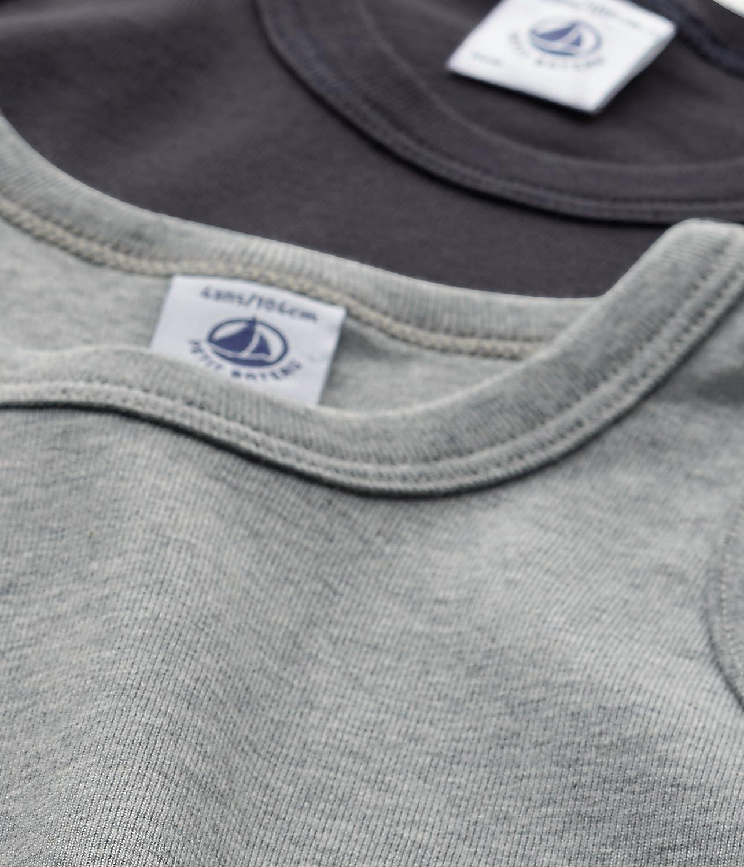 Petit Bateau Set of 2 Boy/'s Plain Undershirts Sizes 2-18 Style 26468-26484