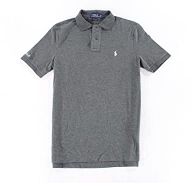 2b77d395c Polo Ralph Lauren Men's Classic Fit Cotton Polo Shirt (Grey, Small) at  Amazon Men's Clothing store: