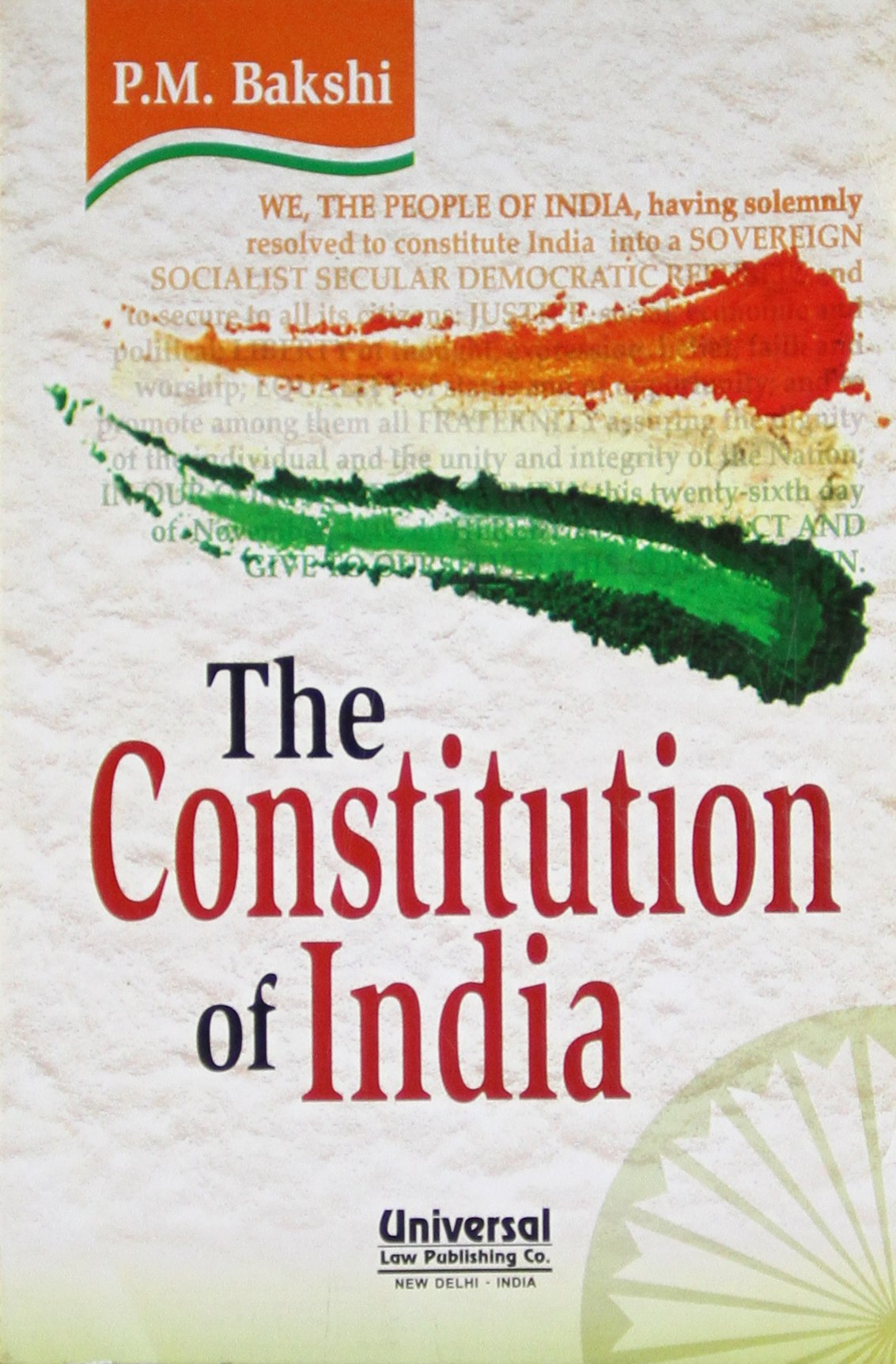 constitution of pocket size in bakshi p m books