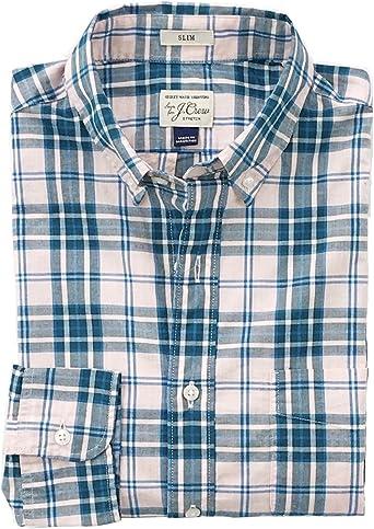 Slim Fit Plaid Secret Wash Cotton Shirt J Crew Mens