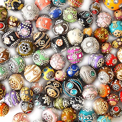 2ebf44119792 Image Unavailable. Image not available for. Color  100 Piece Unique Clay  Beads ...